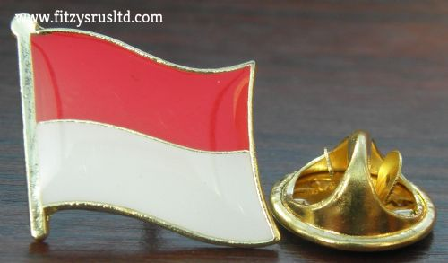 Indonesia Indonesian Country Flag Lapel Hat Cap Tie Pin Badge / Brooch Republic